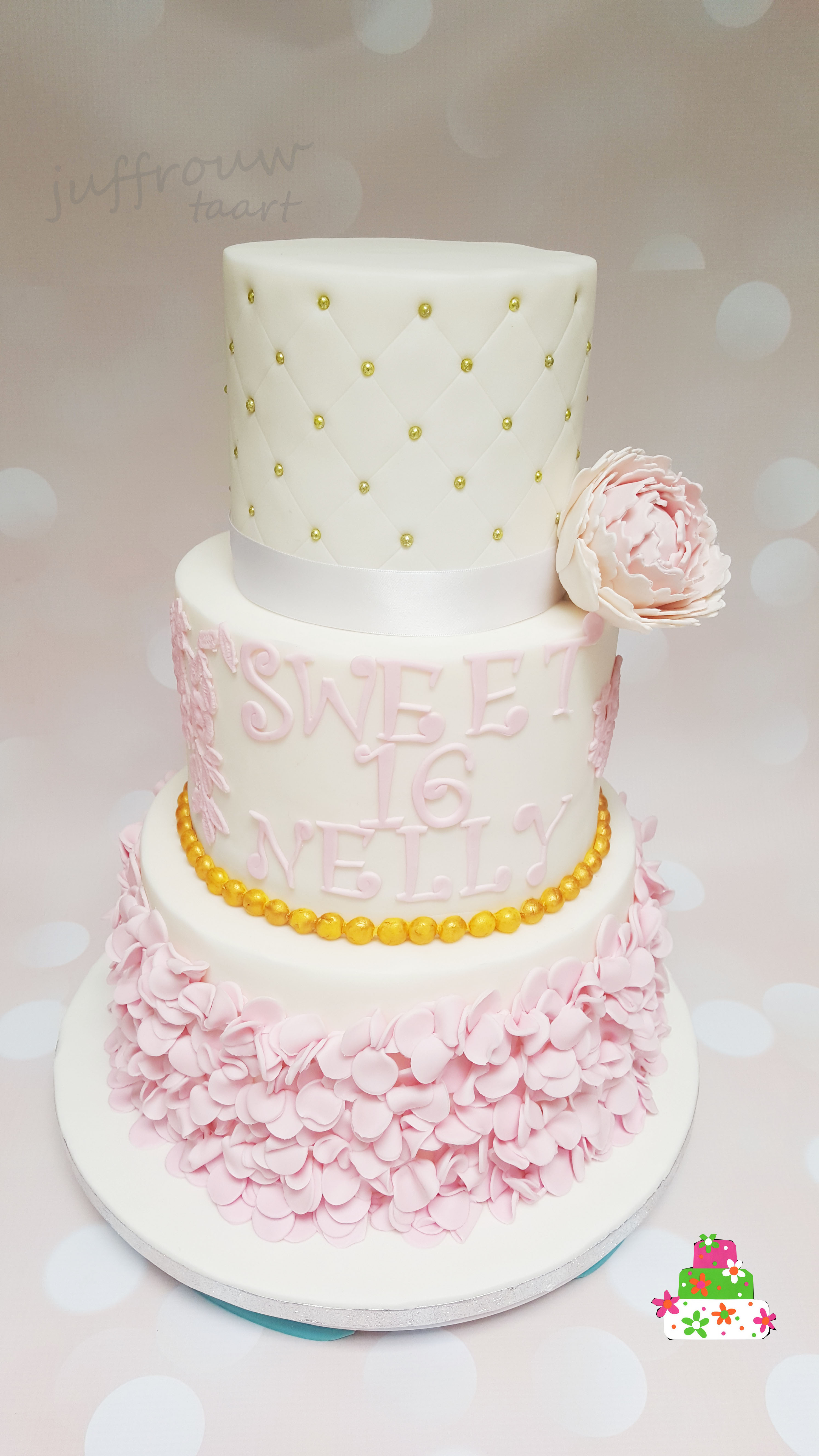 Iets Nieuws Sweet 16 taart - Juffrouw taart winsum #JI81