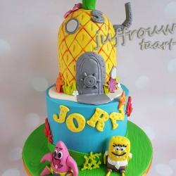 sponge bob taart