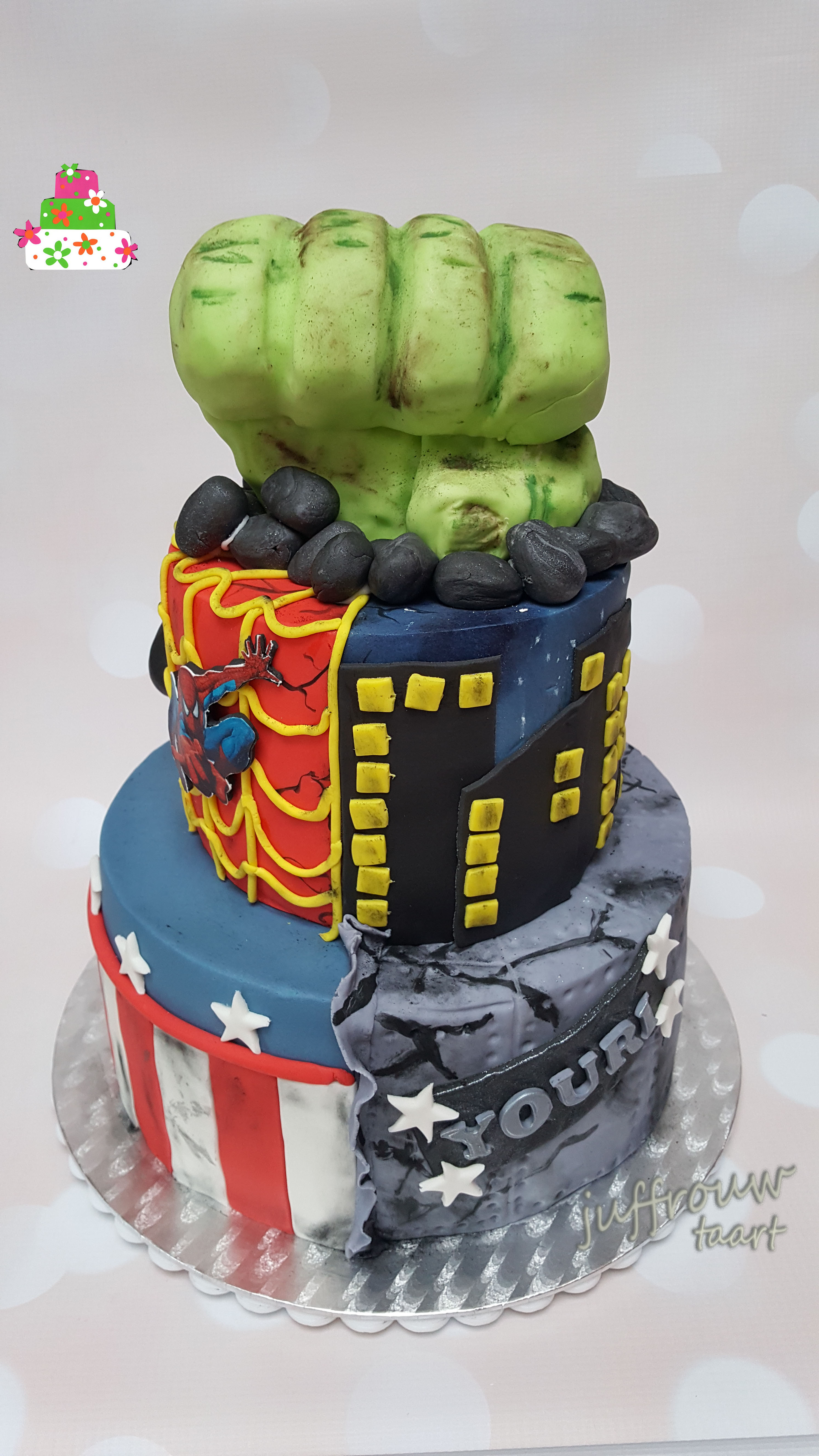 avengers taart Avengers taart voor Youri   Juffrouw taart winsum avengers taart