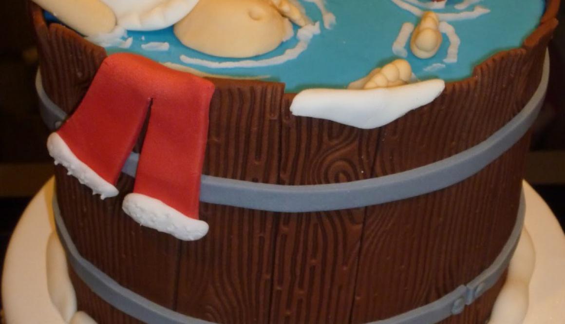 kerstman in tobbe