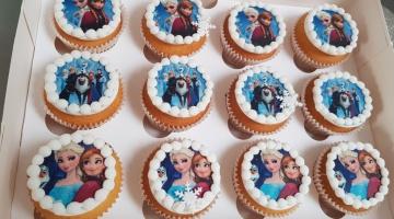 Cupcake met print