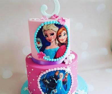 Frozen taart 17 personen