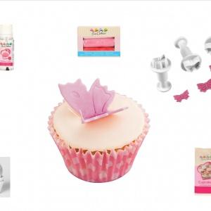 vlinder cupcake set