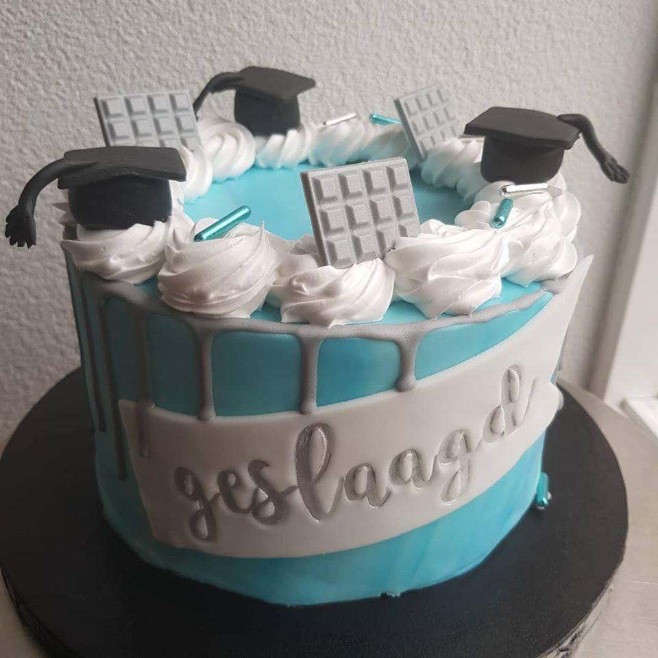 geslaagd taart